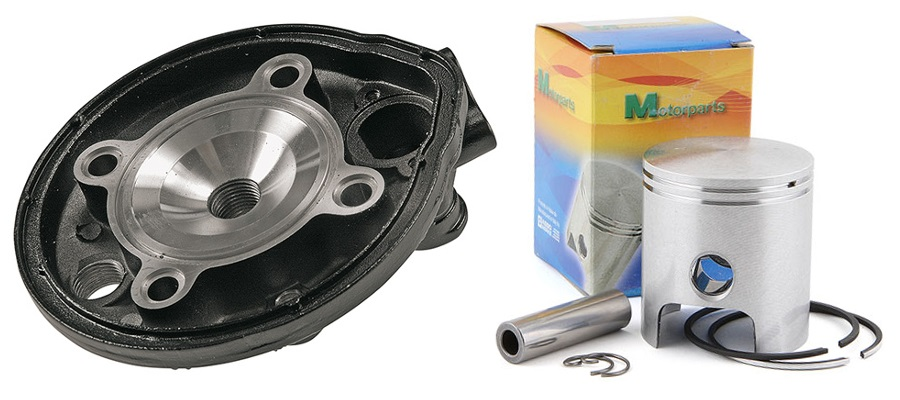 Culasse haute-compression et piston bi-segments
