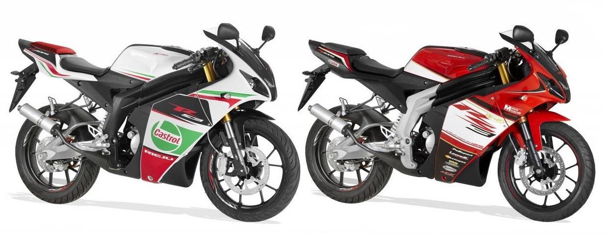 Rieju RS3 50 PRO disponible en blanc ou rouge